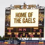 Queen's UNiversity Football video scoreboard
