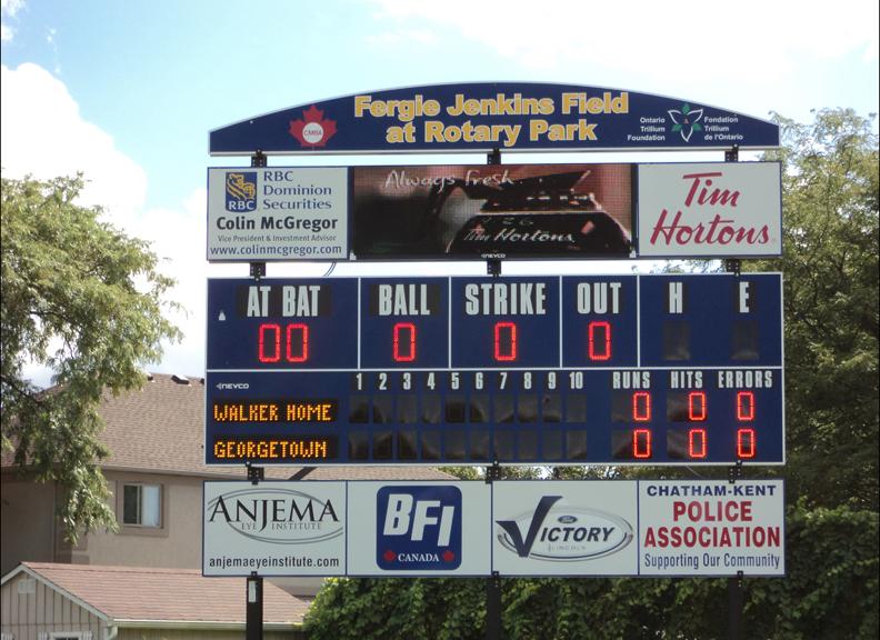 Scoreboard Man Baseball Scoreboards Softball