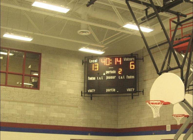 Scoreboard Man Basketball Scoreboards Corner Mounting