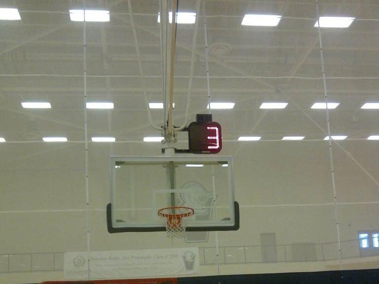 Villanova shot clock - backstop mount