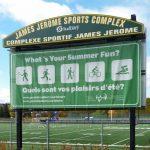 18' x 8' Scoreboard Jerset - James Jerome Complex