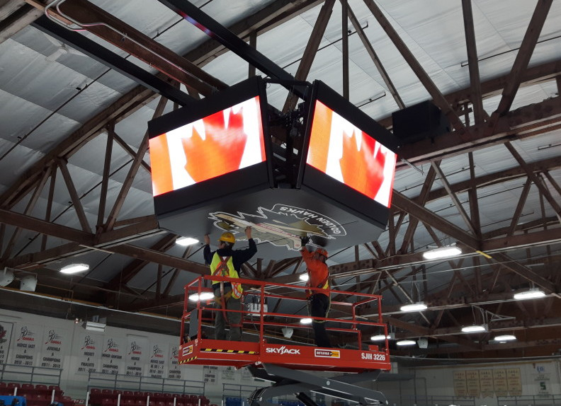 Quinte West Gets New Nevco Video Display In Time For The Dudley Hewitt Cup