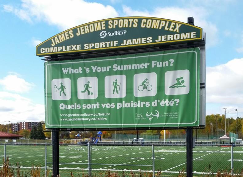 Backside of an outdoor scoreboard?