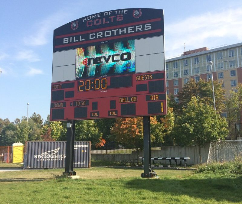 The Scoreboard Man scores a milestone with Bill Crothers Secondary School in Markham, Ontario